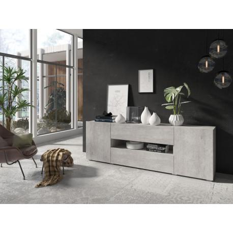Delos TV Stand in Concrete finish