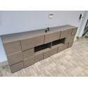 Diana 241cm - grey gloss sideboard with LED lights