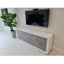 Amber IV - 4 door modern sideboard with stone imitation fronts
