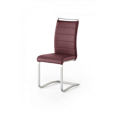 Pescara - colourful dining chair with brushed steel frame