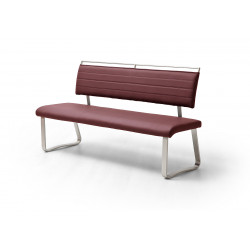 Pescara - colourful dining bench with brushed steel frame