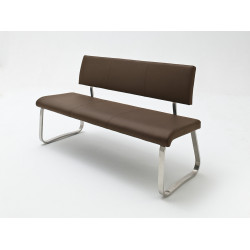 Arco dining bench in eco leather finish