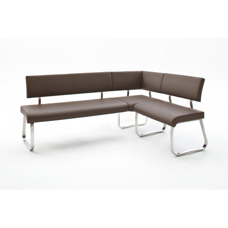 Arco corner dining bench in eco leather finish