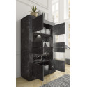 Dolcevita wide gloss and oak display cabinet