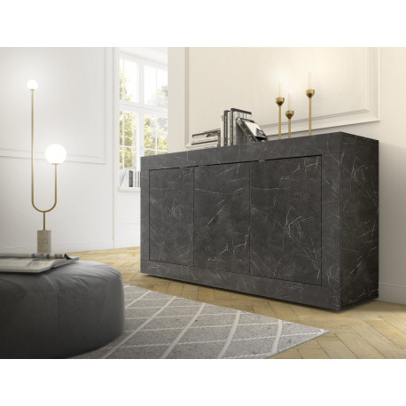 Dolcevita three door gloss and concrete sideboard