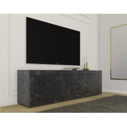 Dolcevita TV stand in grey anthracite and marble imitation finish