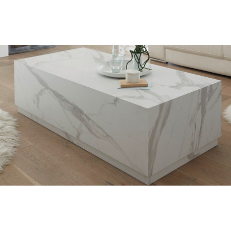 Icona Coffee Table in White Marable