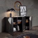 Vittoria Sideboard in Anthracite High Gloss 181 cm