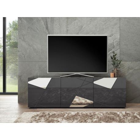Vittoria TV stand in Anthracite High Gloss