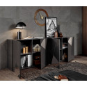 Vittoria 4 doors sideboard in Anthracite High Gloss