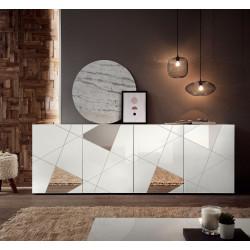Vittoria 4 doors sideboard in White High Gloss