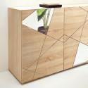 Vittoria 4 doors sideboard in Samoa Oak Imitation