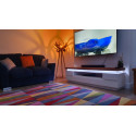Eris III - Large tv unit with LED lights and natural OAK top