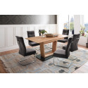 Cuba 140 (190 ) cm Extendable Dining Table with Wild Oak Top