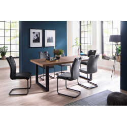 Sonora Dining Table in Wild Oak Imitation