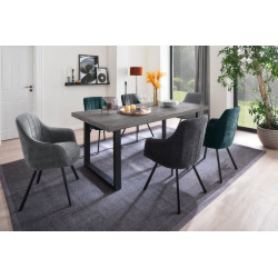 Sonora Dining Table in Swamp Oak Imitation