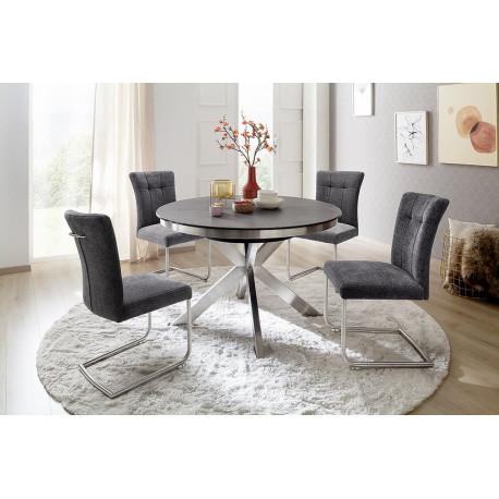 Winnipeg Round Extendable Dining Table