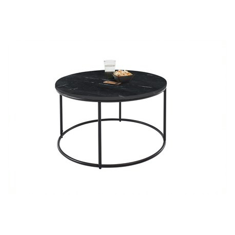 Belfort Round Coffee Table in Marble finish