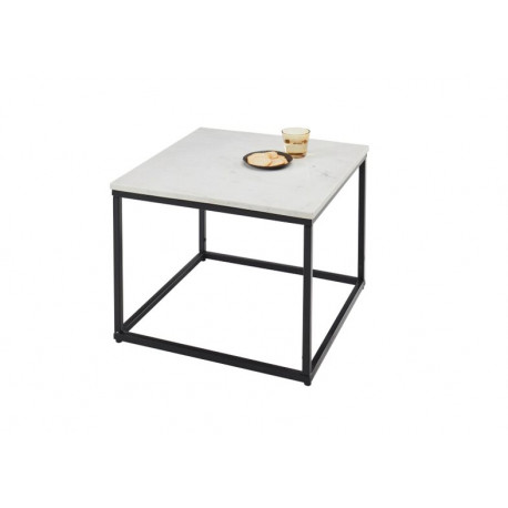 Sammy Square Coffee Table in Marble Finish