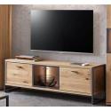 Flora TV Stand in Bianco Oak