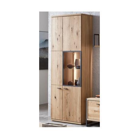 Flora Display Cabinet in Bianco Oak