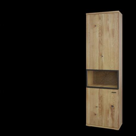 Flora assembled Display Cabinet in Bianco Oak