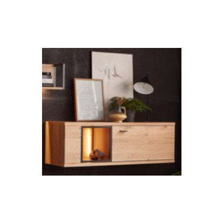 Flora Hanging Cabinet in Bianco Oak