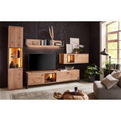 Flora Living Room SET in Bianco Oak