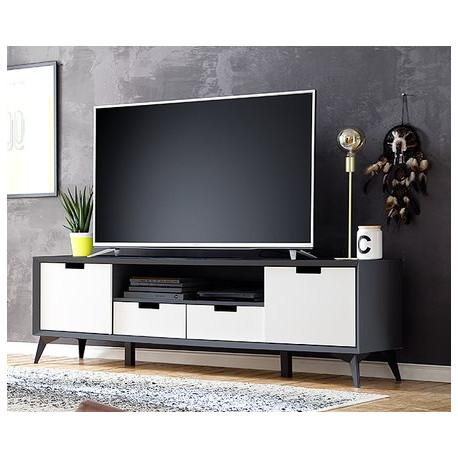 "Netanja TV Stand ""Change as you like"" in grey and white matt"