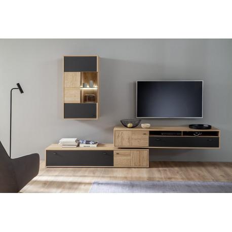 Valenicia Living Room SET in Bianco Oak