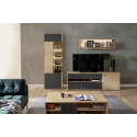 Valencia Living Room SET in Bianco Oak and Anthracite details