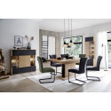 Valencia Extendable Dining Table in Bianco Oak