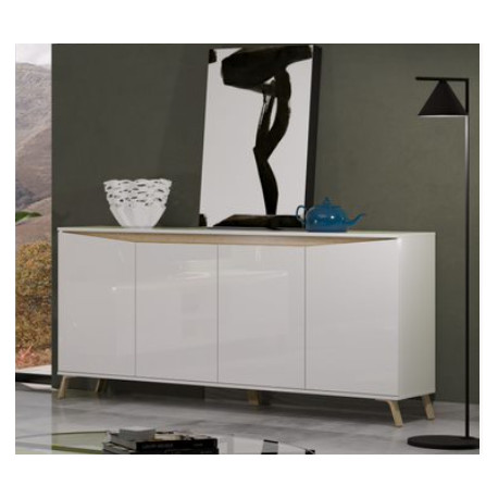 ALADIN Sideboard 184 cm in White High Gloss