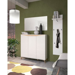 ALADIN Shoe Cabinet in White High Gloss
