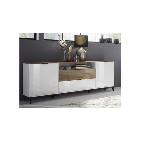 Casablanca Sideboard 180 cm in White High Gloss