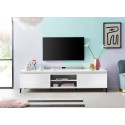 Genua TV Stand 200 cm in White High Gloss Finish and LED lights