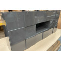 Diana Assembled Grey Gloss Sideboard 181 cm with LED lights - In stock
