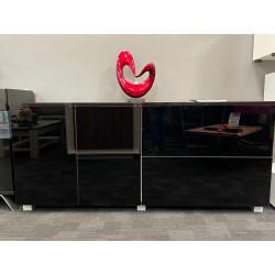Sofia Sideboard 190cm Black High Gloss - IN STOCK