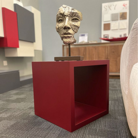 BOX II Lacquered Red Side Table - IN STOCK