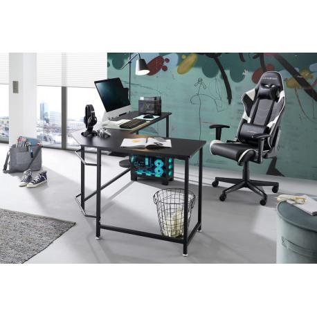Maletto L-shape Desk in Black Finish
