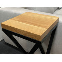 Loft white oak sofa lamp table