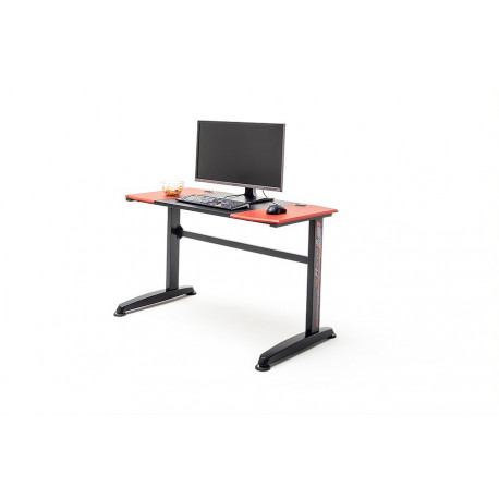 M- Racing 8 Gaming Desk with Red Details and Carbon Imitation