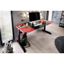 M-Racing 10 Gaming Desk with Red Details and Carbon Imitation