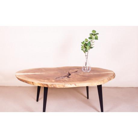 Slice Coffee Table 135 cm in Poplar Wood