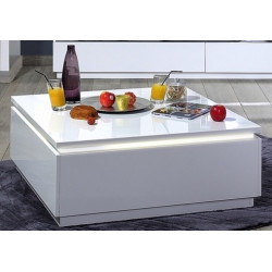 Orde - contemporary High gloss coffee table with LED lights