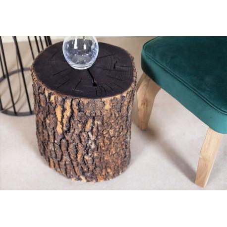 Burned Natural Stump Stool Table