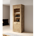 Kanton Display Cabinet in Oak Veneer