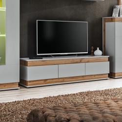 Bermin TV Stand in Grayish White Finish