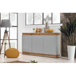 Bermin 3 doors Sideboard in Grayish White Finish