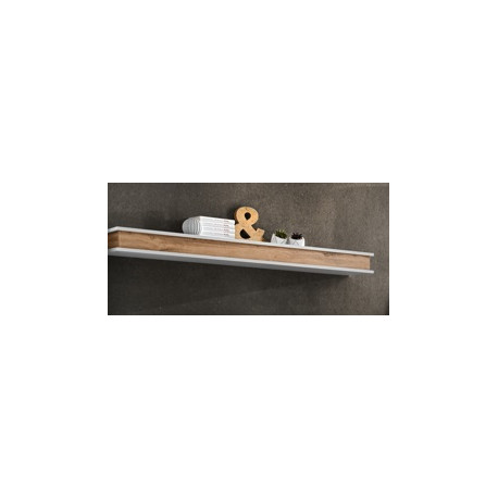 Bermin wall shelf 150 cm in Grayish White Finish